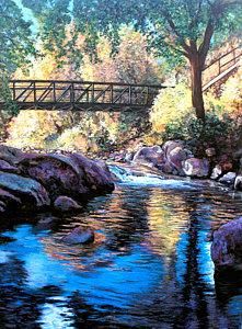 Boulder Creek Bridge Eben G. Fine Park