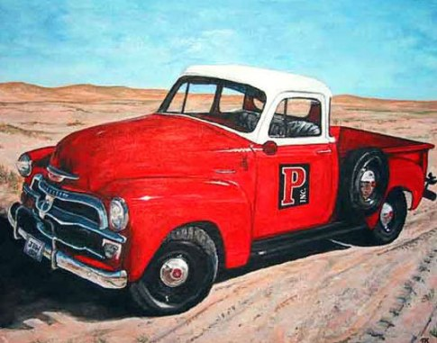 Pavers Chevy Truck