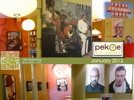 Art Show Pekoe Sip House at Ideal Broadway Shop