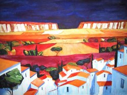 White Houses with Red Roofs