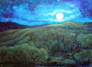 Full Moon Wolf Mountain