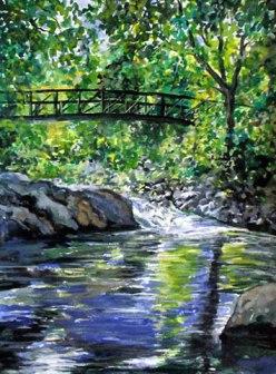 Watercolor painting of Boulder Creek