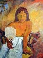 Gauguin's Girl with a Fan