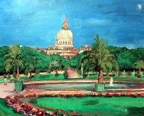 Plein Air painting of Luxemborg Gardens Paris France