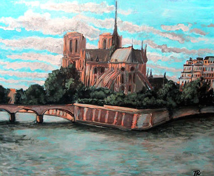 Plein Air Painting of Notre Dame