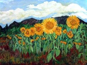 Sunflowers by Boulder artist Tom Roderick