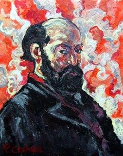 Self-portrait of Paul Cézanne