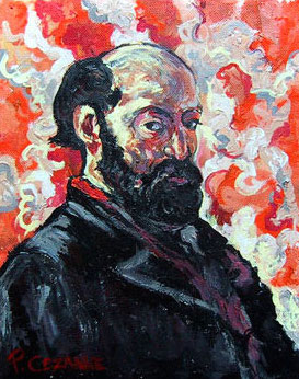 Self-portrait of Paul Cézanne