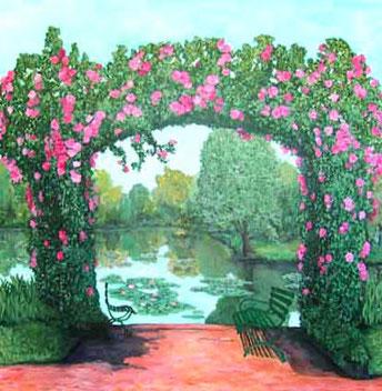 Claude Monet's Rosebush Arch