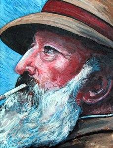 Self-portrait of Monet