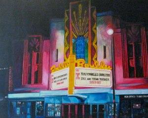 Portrait of Boulder Theater by Boulder artist Tom Roderick