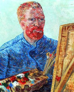 VanGogh self-portrait at the easel