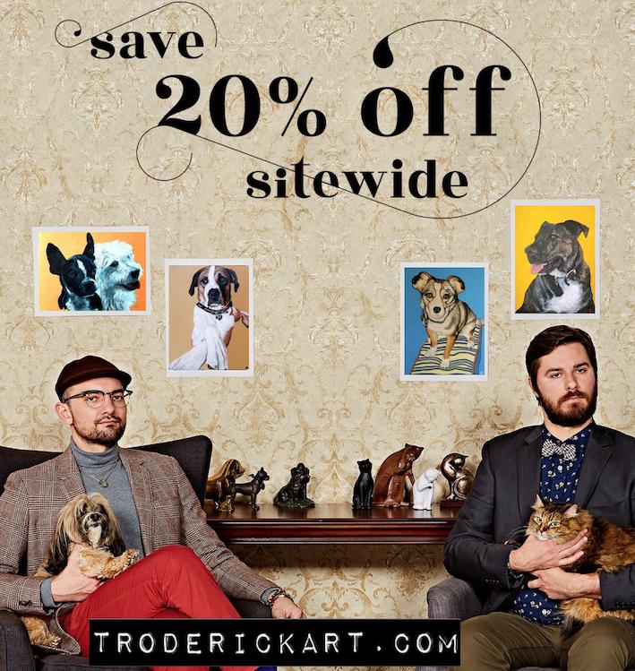 Coupon code TIMEOFF promo troderickart.com