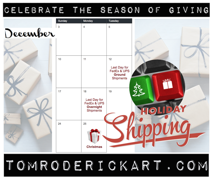 Season of Giving Holiday Shipping Schedules
