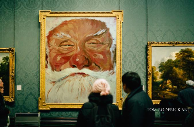 Portrait of Santa by Boulder portrait artist Tom Roderick