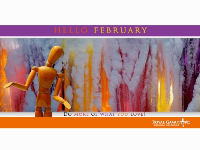 Hello February Promo Royal Gamut Art