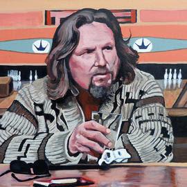 The Dude by Boulder portrait artist Tom Roderick