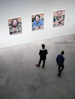 The Big Lebowski triptych by Boulder portrait artist Tom Roderick