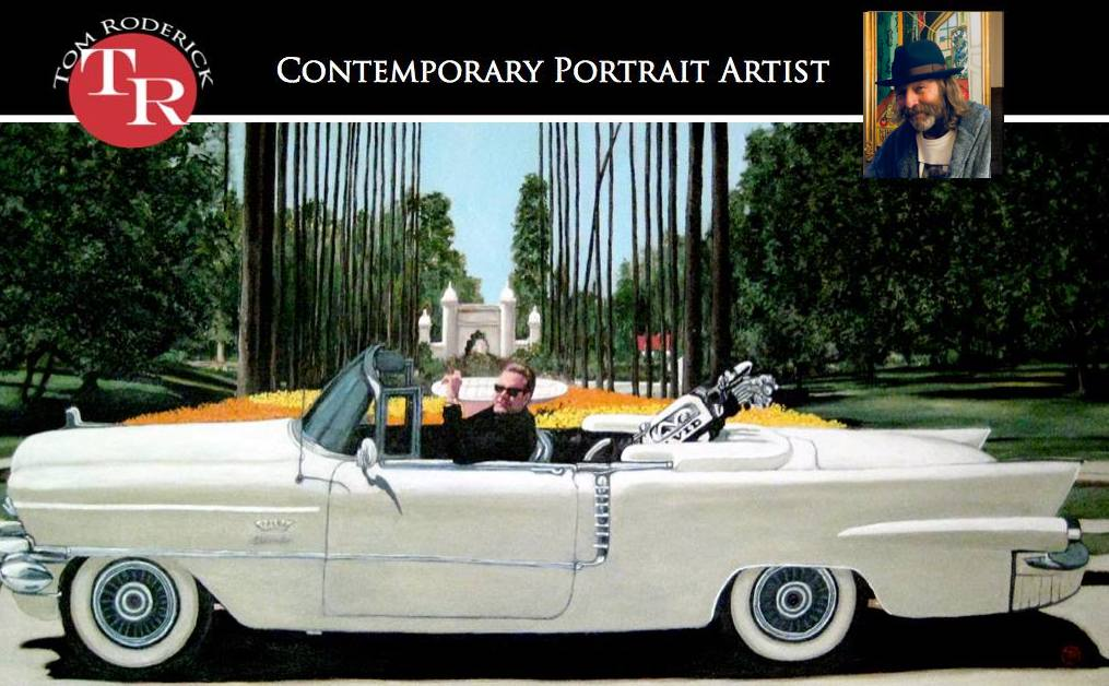 Contemporary portrait artist Tom Roderick promo