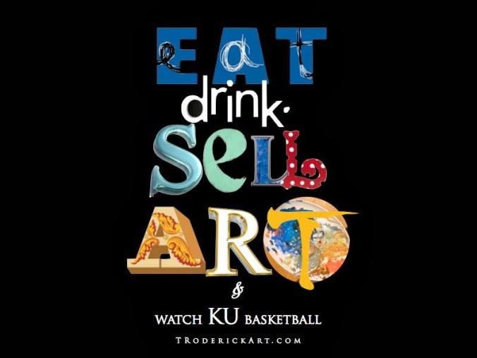 KU basketball promo for Tom Roderick Art
