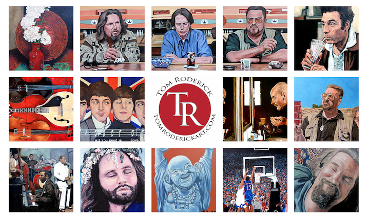 Paintings  by Boulder artist Tom Roderick