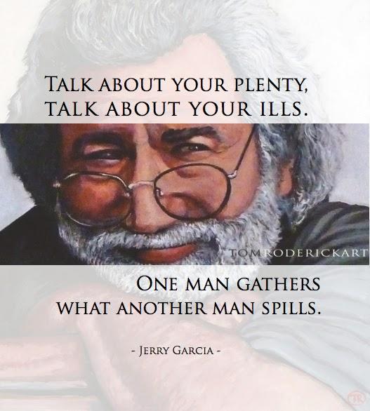 portrait of Jerry Garcia