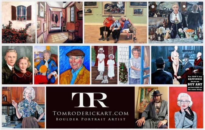 Boulder portrait artist Tom Roderick promo