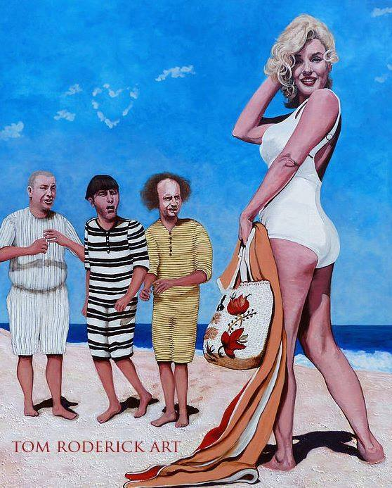 Marilyn Monre and the Three Stooges