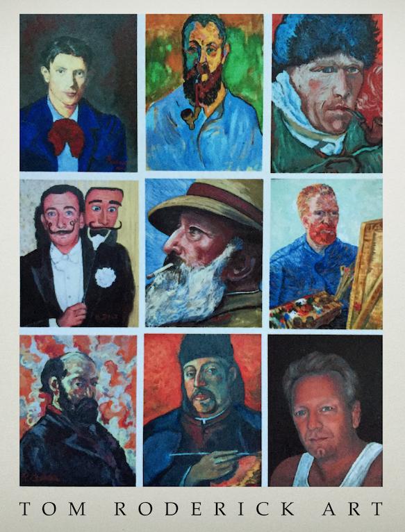 Artist interpretations of famous artist self-portraits