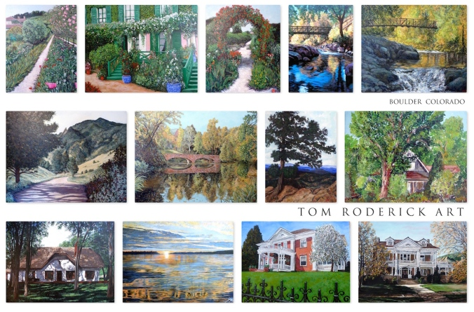 collage of landscape paintings by TR