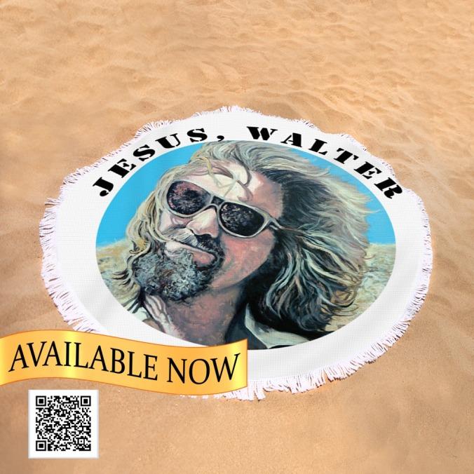 Jesus Walter round beach towel