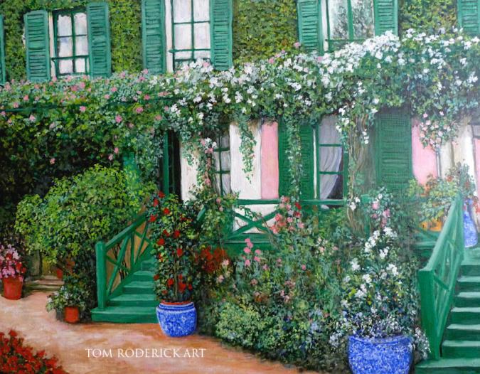 La Maison de Claude Monet by Boulder artist Tom Roderick.