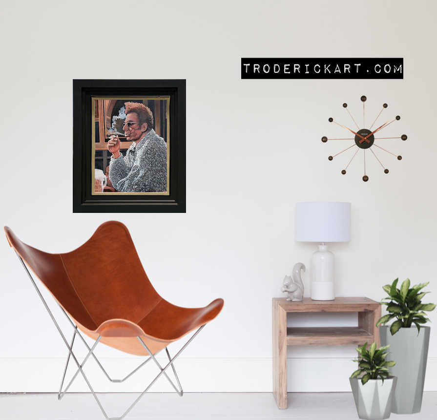 Portrait of Cosmo Kramer by Boulder artist Tom Roderick.