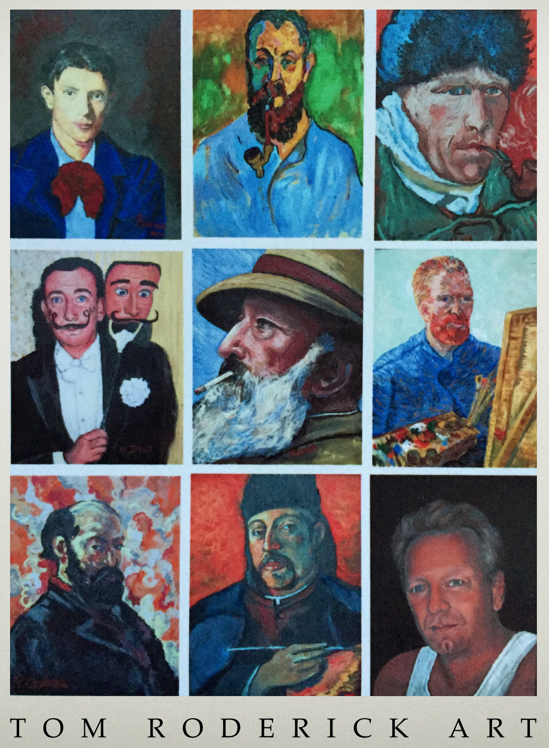 Portrait art by Boulder artist Tom Roderick