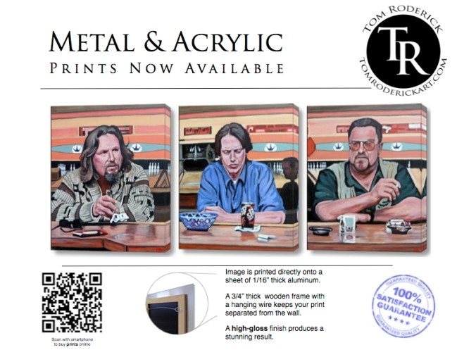Metal and Acrylics prints now available at Tom Roderick Art
