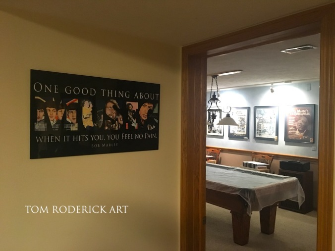Tom Roderick's Artwork displayed on wall clients wall in Salina, Kansas.