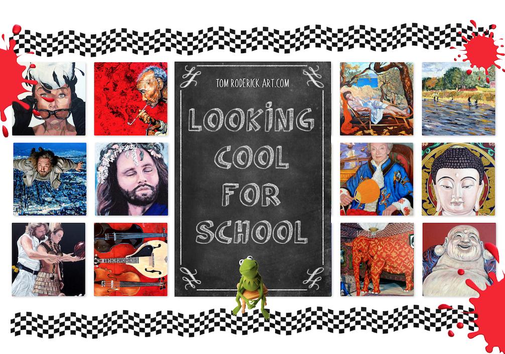 Back to School promo for Tom Roderick Art