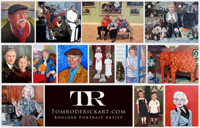 Family portrait by Boulder portrait artist Tom Roderick.
