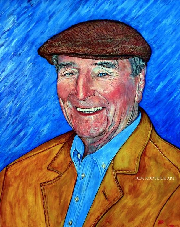 Dr. James Evan Roderick II by Boulder portrait artist Tom Roderick.
