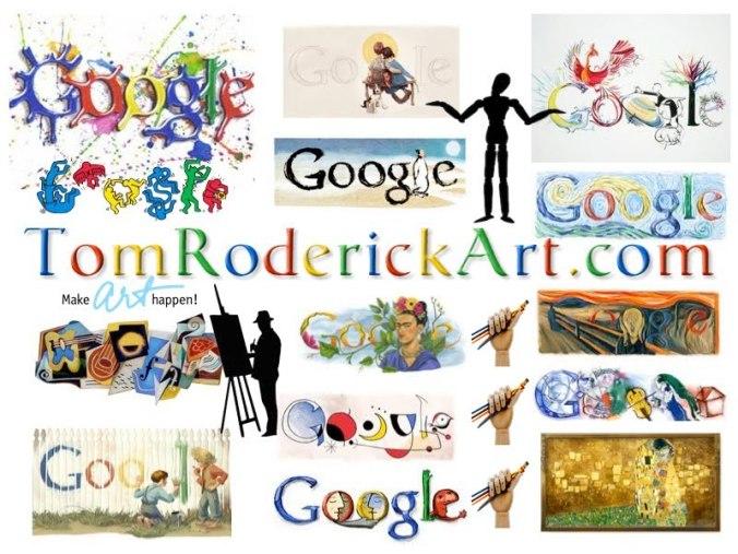 Eat Sleep Google promo for TomRoderickArt