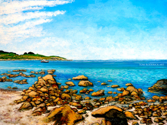 Kettle Cove - Cape Elizabeth, ME painting by Boulder artist Tom Roderick.