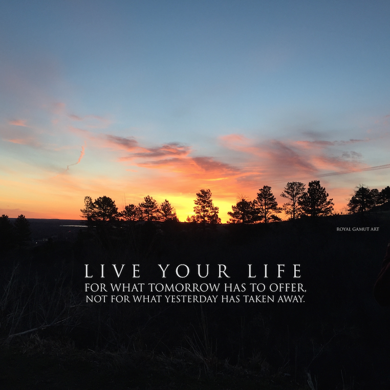 Sunrise Boulder Colorado Live Your Life by Royal Gamut Art