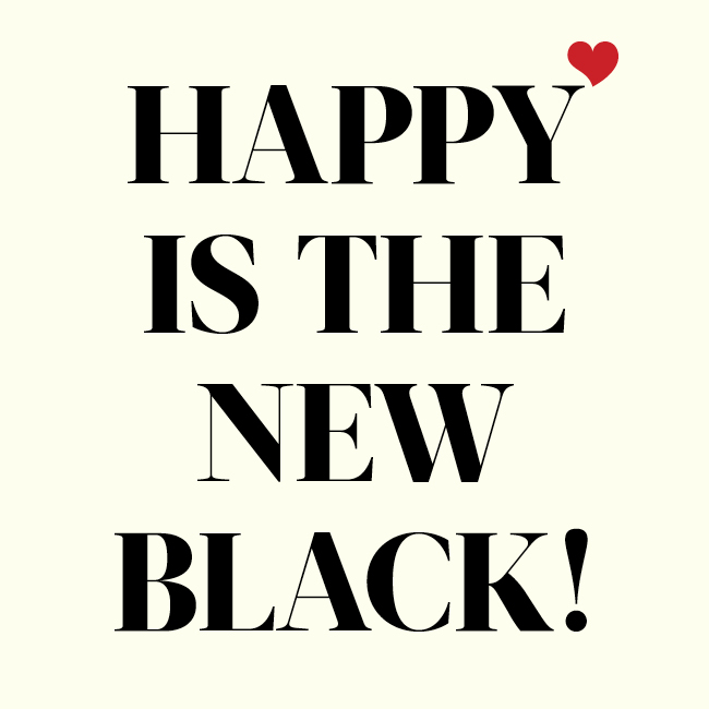 Happy is the new black! Royal Gamut Art