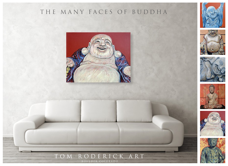 The Many Faces of Buddha by Boulder artist Tom Roderick.