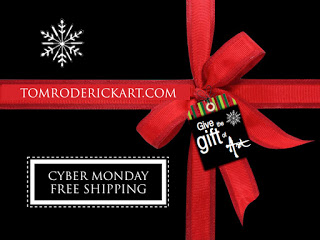 free shipping cyber monday promo tom roderick art