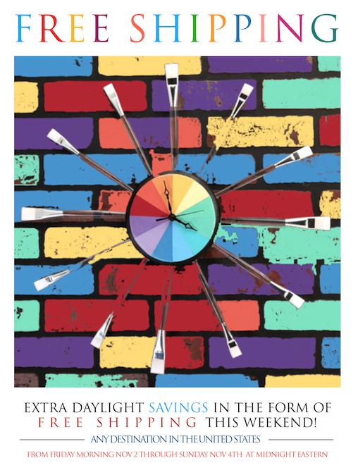 Daylight Savings Promo Free Shipping
