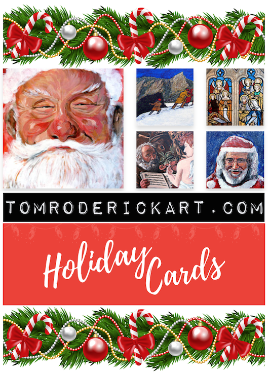 Seasonal art by Boulder artist Tom Roderick