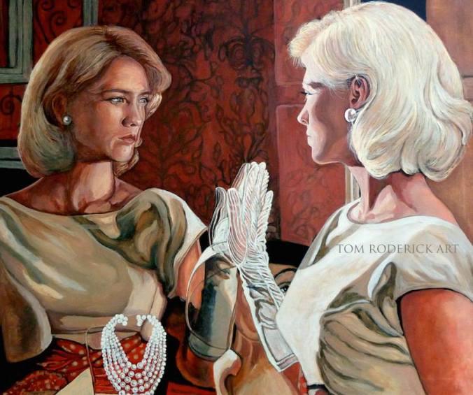 Portrait of Betty Draper by Boulder portrait artist Tom Roderick.