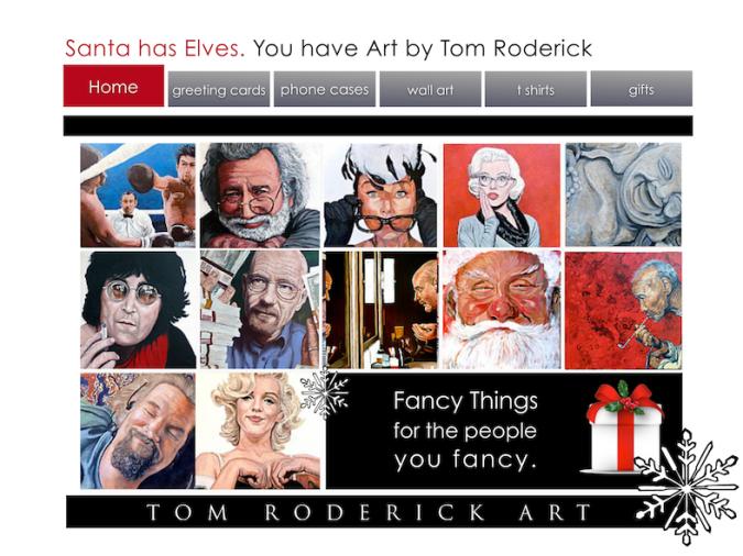 Tom Roderick Art Christmast Promo