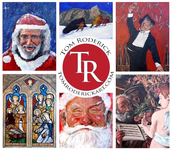 Seasonal art by Boulder portrait artist Tom Roderick.